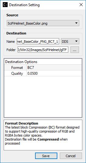 glTF Viewer and asset compression — Compressonator